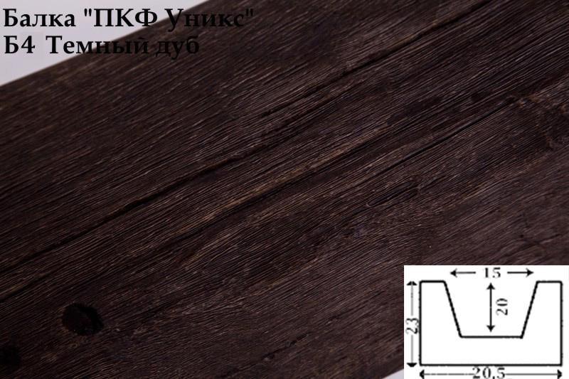 Купить Б4 Балка темный дуб 230х205х3000 мм