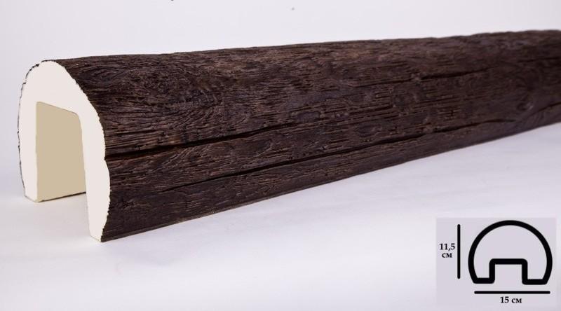 Купить Р1 Балка темный дуб 75х100х3000 мм
